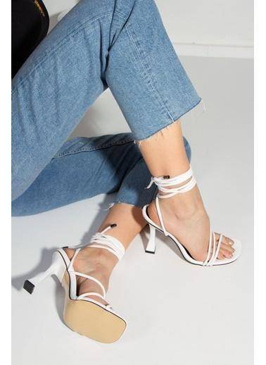Derithy Royden Topuklu Ayakkabı-Ten-Byc1112 Beyaz